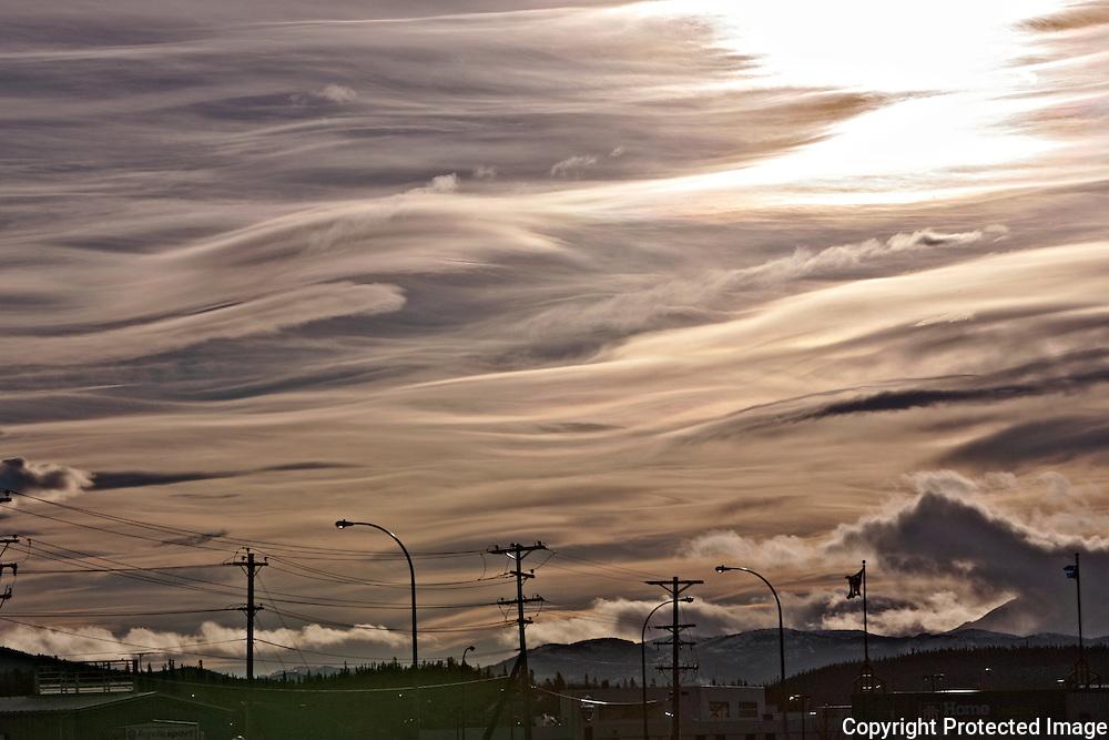Ian Stewart/Yukon News<br /> Painterly clouds seen above Whitehorse.