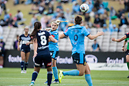 SYDNEY, AUSTRALIA - NOVEMBER 17: Sydney FC forward Remy Siemsen heads the ball during the round 1 W-League soccer match between Sydney FC Women and Melbourne Victory Women on November 17, 2019 at Netstrata Jubilee Stadium in Sydney, Australia. (Photo by Speed Media/Icon Sportswire)