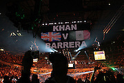 A general view of the MEN Arena during the WBA and WBO Inter-Continental Lightweight title fight between Amir Khan and Marc Antonio Barrera at the MEN Arena on March 14, 2009 in Manchester, England.