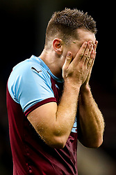 Sam Vokes of Burnley cuts a dejected figure after defeat to Olympiakos - Mandatory by-line: Robbie Stephenson/JMP - 30/08/2018 - FOOTBALL - Turf Moor - Burnley, England - Burnley v Olympiakos - UEFA Europa League Play-offs second leg