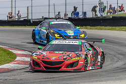 May 6, 2018 - Lexington, Ohio, United States of America - The Michael Shank Racing Acura NSX GT3 car races through the keyhole turn during the the Acura Sports Car Challenge at Mid Ohio Sports Car Course in Lexington, Ohio. (Credit Image: © Walter G Arce Sr Asp Inc/ASP via ZUMA Wire)
