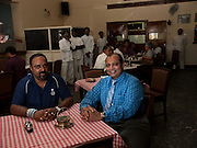 Santosh and Prem Koshy, restaurateurs. They run Koshy's a landmark restaurant of Bangalore. It is the second home for the intelligentsia of the city.
