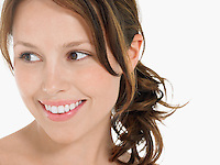 Young Woman Smiling close up head shot