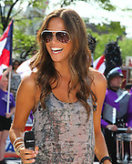 Country music singer and actress Jana Kramer performs at the IPL 500 Festival Parade in downtown Indianapolis, Indiana on Saturday May 26, 2012.<br /> <br /> Photo by Michael Hickey