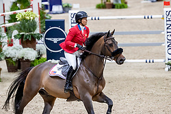 MADDEN Elizabeth (USA), Breitling LS <br /> Göteborg - Gothenburg Horse Show 2019 <br /> Longines FEI World Cup™ Final II<br /> Int. jumping competition with jump-off (1.50 - 1.60 m)<br /> Longines FEI Jumping World Cup™ Final and FEI Dressage World Cup™ Final<br /> 05. April 2019<br /> © www.sportfotos-lafrentz.de/Stefan Lafrentz
