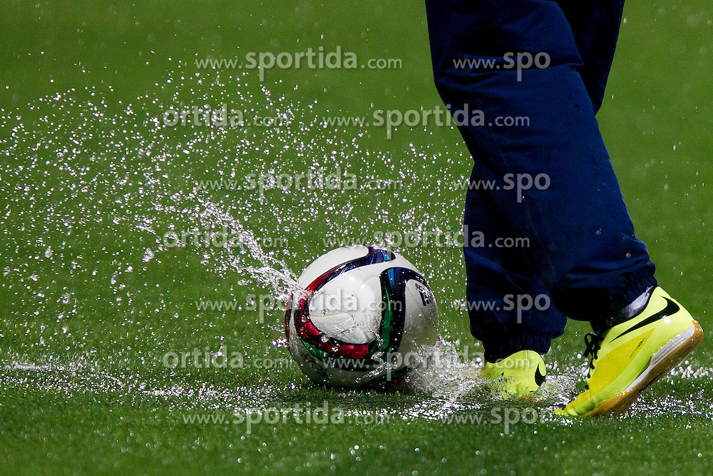 Water on a football pitch during football match between FC Luka Koper and NK Krsko in 11th Round of Prva liga Telekom Slovenije 2015/16, on September 23, 2015 in Bonifika, Koper, Slovenia. Photo by Urban Urbanc / Sportida