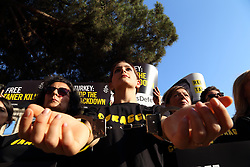 July 20, 2017 - Rome, Italy - Flashmob organized in Rome on Colosseum Square by Amnesty International Italia against the detention of human rights defenders in Turkey (Credit Image: © Matteo Nardone/Pacific Press via ZUMA Wire)