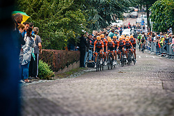 Peloton with Roompot - Nederlandse Loterij during 2017 National Road Race Championships Netherlands for Men Elite, Montferland, The Netherlands, 25 June 2017. Photo by Pim Nijland / PelotonPhotos.com | All photos usage must carry mandatory copyright credit (Peloton Photos | Pim Nijland)
