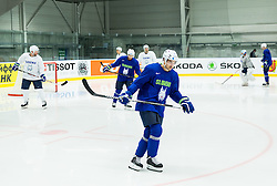 Klemen Pretnar of Slovenia during practice session of Slovenian Ice Hockey National Team at Day 4 of 2015 IIHF World Championship, on May 4, 2015 in Practice arena Vitkovice, Ostrava, Czech Republic. Photo by Vid Ponikvar / Sportida