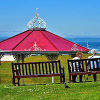 Bandstand Overlooking Witch Lake in St Andrews, Scotland<br />