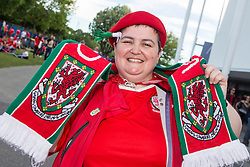 TOULOUSE, FRANCE - Monday, June 20, 2016: A Wales supporter ahead of the final Group B UEFA Euro 2016 Championship match against Russia at Stadium de Toulouse. (Pic by Paul Greenwood/Propaganda)