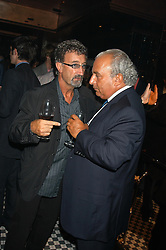 Left to right, EDDIE JORDAN and PHILIP GREEN at a party hosted by Frankie Dettori, Marco Pierre White and Edward Taylor to celebrate the launch of Frankie's Italian Bar & Grill at 3 Yeoman's Row, London SW3 on 2nd September 2004.