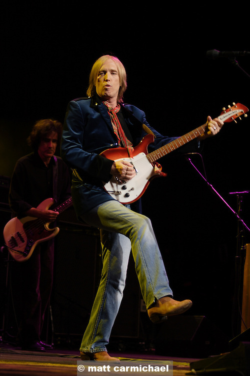 TINLEY PARK, IL - JULY 15: Tom Petty and the Heartbreakers perform live in concert July 15, 2005 at The Tweeter Center Chicago, in Tinley Park, Illinois. (Photo by Matt Carmichael)