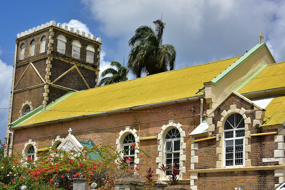 Holy Trinity Anglican Church in Castries, Saint Lucia<br /> Anglicanism is a Christian religion that began as part of the Church of England. The faith was introduced to Saint Lucia when the British took control during the 18th century. Religious freedom was granted to the island in 1783. The cornerstone for this beautiful Holy Trinity Anglican Church was laid in 1894. Less than 2% of Saint Lucians practice the Anglican faith.