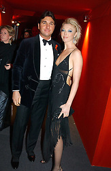 "MISS TAMARA BECKWITH and MR GEORGE VERONI  at the 10th annual British Red Cross London Ball.  This years ball theme was Indian based - ""Yaksha - Yakshi: Doorkeepers to the Divine"" and was held at The Room, Upper Ground, London on 1st December 2004.  Proceeds from the ball will aid vital humanitarian work, including HIV/AIDS projects that the Red Cross supports in the UK and overseas.<br />