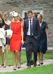 England cricket Test team captain Joe Root arrives at St Mary the Virgin, East Brent, Somerset, for the wedding of Ben Stokes and his fiancee Clare Ratcliffe.