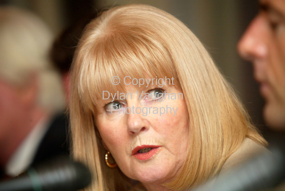 8/4/2002 .Pictured  in the Newpark Hotel in Kilkenny at the oral presentations to the Broadcasting Commission of Ireland for a South East Regional radio licence was Chairperson of the Power FM group Barbara Nugent ..Picture Dylan VAughan