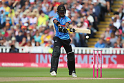 Sussex's Delray Rawlins during the Vitality T20 Finals Day semi final 2018 match between Sussex Sharks and Somerset at Edgbaston, Birmingham, United Kingdom on 15 September 2018.