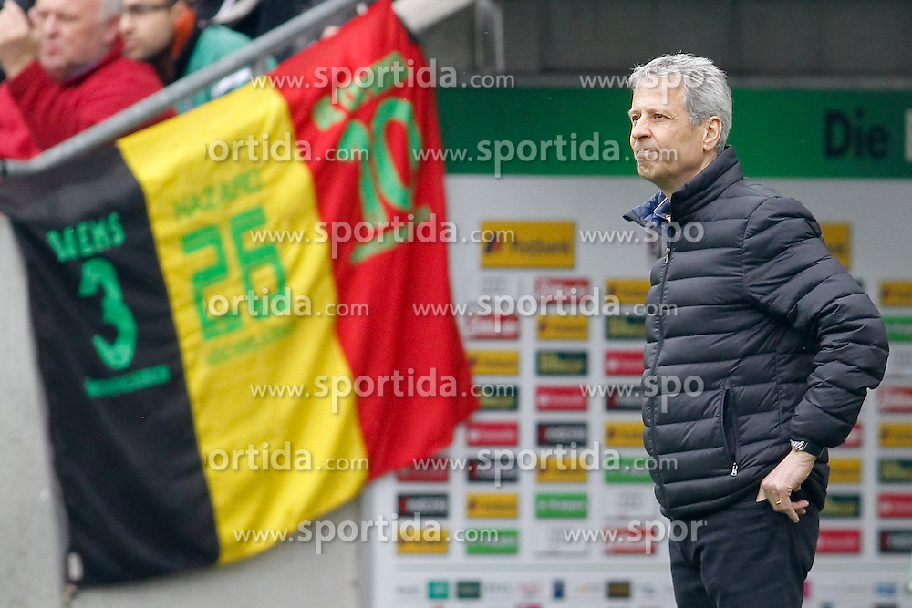 11.04.2015, Borussia Park, Moenchengladbach, GER, 1. FBL, Borussia Moenchengladbach vs Borussia Dortmund, 28. Runde, im Bild Trainer Lucien Favre (Borussia Moenchengladbach) // 15054000 during the German Bundesliga 28th round match between Borussia Moenchengladbach and Borussia Dortmund at the Borussia Park in Moenchengladbach, Germany on 2015/04/11. EXPA Pictures &copy; 2015, PhotoCredit: EXPA/ Eibner-Pressefoto/ Sch&uuml;ler<br /> <br /> *****ATTENTION - OUT of GER*****