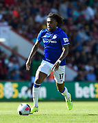 Alex Iwobi (17) of Everton on the attack during the Premier League match between Bournemouth and Everton at the Vitality Stadium, Bournemouth, England on 15 September 2019.