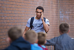 BURNLEY, ENGLAND - Saturday, August 31, 2019: Liverpool's Trent Alexander-Arnold arrives before the FA Premier League match between Burnley FC and Liverpool FC at Turf Moor. (Pic by David Rawcliffe/Propaganda)