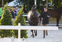 David Marcus, (CAN), Chrevi's Capital - Horse Inspection Dressage - Alltech FEI World Equestrian Games™ 2014 - Normandy, France.<br /> © Hippo Foto Team - Leanjo de Koster<br /> 25/06/14