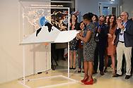 Nederland, Eindhoven, 20170407.<br /> Jane Nduta Wanmura. Studie gedaan via StudyPortals<br /> Koningin Maxima opent hoofdkantoor van StudyPortals in het Klokgebouw op Strijp-S in Eindhoven.<br /> Koningin Maxima ontmoet enkele studenten die door gebruik van StudyPortals hun opleiding in het buitenland hebben gevonden.<br /> De missie van StudyPortals is het wereldwijd transparant en toegankelijk maken van studiemogelijkheden via een online internationaal studiekeuze platform.<br /> <br /> Netherlands, Eindhoven<br /> Queen Maxima opens headquarters of StudyPortals in Eindhoven.<br /> Queen Maxima meet some students who found their education abroad through StudyPortals.<br /> The mission of StudyPortals is to make learning opportunities transparent and accessible worldwide. Through an international online study platform.