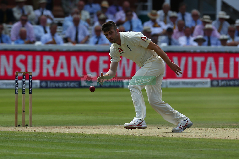 July 7, 2017 - London, United Kingdom - England's Mark Wood .during 1st Investec Test Match between England and South Africa at Lord's Cricket Ground in London on July 06, 2017  (Credit Image: © Kieran Galvin/NurPhoto via ZUMA Press)