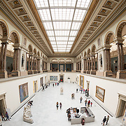 The ornate architecture at the Royal Museums of Fine Arts in Belgium (in French, Musées royaux des Beaux-Arts de Belgique), one of the most famous museums in Belgium. The complex consists of several museums, including Ancient Art Museum (XV - XVII century), the Modern Art Museum (XIX ­ XX century), the Wiertz Museum, the Meunier Museum and the Museé Magritte Museum.