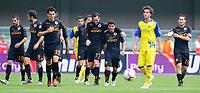 """esultanza di david pizarro della Roma<br /> Verona 16/5/2010 Stadio """"Marcantonio Bentegodi""""<br /> Chievo Roma<br /> Campionato di calcio di serie A 2009/2010<br /> Foto Bibi Insidefoto"""