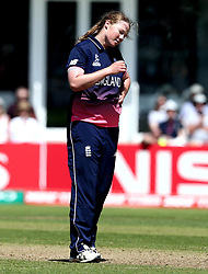 Anya Shrubsole of England Women looks frustrated - Mandatory by-line: Robbie Stephenson/JMP - 02/07/2017 - CRICKET - County Ground - Taunton, United Kingdom - England Women v Sri Lanka Women - ICC Women's World Cup Group Stage