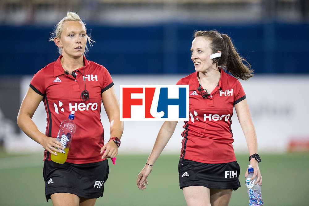 AUCKLAND - Sentinel Hockey World League final women<br /> Match id: 10304<br /> 14 ARG v NZL 1-2<br /> Foto: WILSON Sarah (SCO) (l) andKEOGH Alison (IRL) umpires.<br /> WORLDSPORTPICS COPYRIGHT FRANK UIJLENBROEK