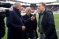 (L-R) *Joep Schreuder*, *Martin Haar*, coach *John van den Brom* of AZ Alkmaar