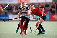 HUIZEN/NAARDEN - 2017 Hoofdklasse dames<br /> Huizer HC  vs Nijmegen 3-1<br /> Foto: Sascha Olderaan.<br /> WORLDSPORTPICS COPYRIGHT FRANK UIJLENBROEK