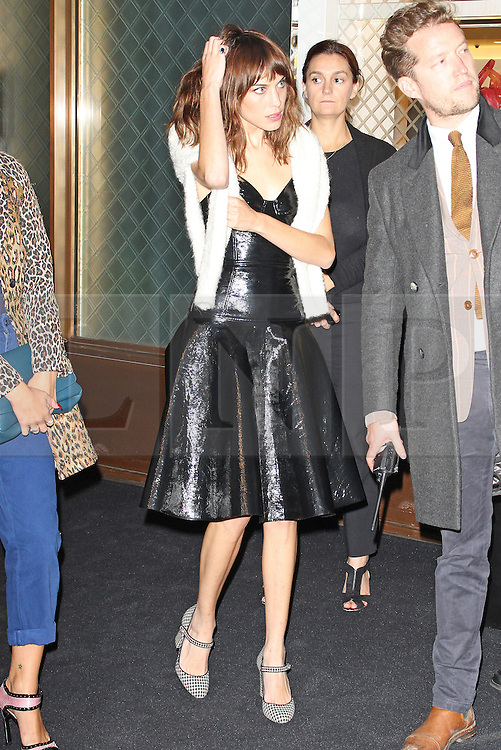 © Licensed to London News Pictures. 14/09/2013. LONDON. UK. Alexa Chung, Longchamp - Flagship Store Launch Party, Regent Street, London UK, 14 September 2013. Photo credit : Brett D. Cove/Piqtured/LNP