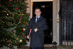 © Licensed to London News Pictures. 19/12/2018. London, UK. Secretary of State for Wales Alun Cairns leaves Downing Street after meetings with British Prime Minister Theresa May. Photo credit : Tom Nicholson/LNP