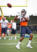SHOT 7/25/13 9:51:35 AM - Denver Broncos wide receiver Demaryius Thomas #88 makes a catch as he runs through drills during opening day of the team's training camp July 25, 2013 at Dove Valley in Englewood, Co.  (Photo by Marc Piscotty / © 2013)