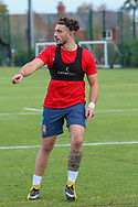 Declan Patton of Warrington Wolves during the England Knights training session at Leigh Sports Village, Leigh<br /> Picture by Steve McCormick/Focus Images Ltd 07545 862647<br /> 17/10/2018