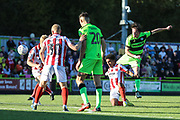 Forest Green Rovers Theo Archibald(18) shoots at goal during the EFL Sky Bet League 2 match between Forest Green Rovers and Cheltenham Town at the New Lawn, Forest Green, United Kingdom on 20 October 2018.