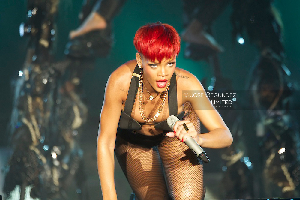 Singer Rihanna performs on stage during Rock in Rio Festival on June 5, 2010 in Arganda del Rey, Spain..