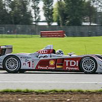 #1, Audi R10 TDI 5.5l Turbo V12 Diesel, Audi Sport Team Joest, drivers: Allan McNish, Rinaldo Capello, at the Silverstone 6h, 2008