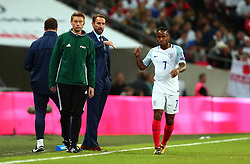 England Manager Gareth Southgate gives instructions to Raheem Sterling of England - Mandatory by-line: Robbie Stephenson/JMP - 05/10/2017 - FOOTBALL - Wembley Stadium - London, United Kingdom - England v Slovenia - World Cup qualifier