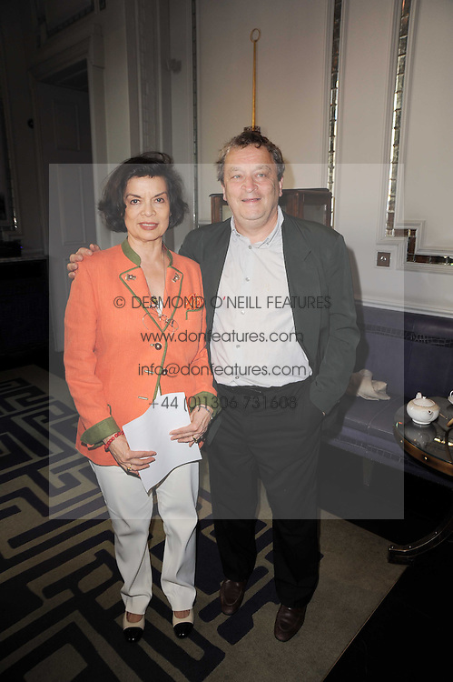 BIANCA JAGGER and SIR NORMAN ROSENTHAL at 'Amnestea' a tea party hosted my Amnesty International held at The Langham Hotel, Portland Place, London on 25th May 2010.