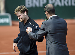 May 30, 2018 - Paris, France - PARIS,FRANCE - MAY 30 : David Goffin of Belgium pictured during his second round match (Credit Image: © Panoramic via ZUMA Press)