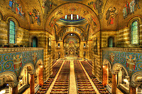 Interior of the Cathedral Basilica of St. Louis in St. Louis, Missouri.