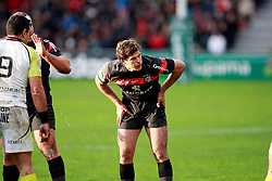Luke Burgesss waits in the lineout. Stade Toulousain v Ospreys, Heineken Cup, Stade Ernest Wallon, Toulouse, France, 8th December 2012.