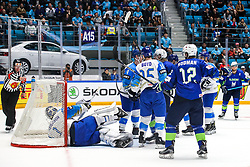 David Rodman of Slovenia celebrate after scoring a goal during ice hockey match between Slovenia and Kazakhstan at IIHF World Championship DIV. I Group A Kazakhstan 2019, on April 29, 2019 in Barys Arena, Nur-Sultan, Kazakhstan. Photo by Matic Klansek Velej / Sportida