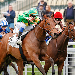Coeur de Beaute  (S. Pasquier) wins Prix Imprudence Gr.3 in Deauville, France 09/04/2018, photo: Zuzanna Lupa