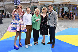 Grayson Perry, Erdem Moralioglu, Jennifer Saunders, Imogen Poots and James Norton at the Royal Academy Of Arts Summer Exhibition Preview Party 2018 held at The Royal Academy, Burlington House, Piccadilly, London, England. 06 June 2018.