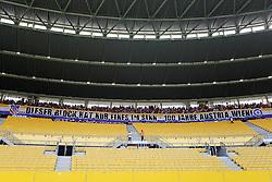 21.08.2011, Ernst-Happel-Stadion, Wien, AUT, 1. FBL, SK Rapid Wien vs FK Austria Wien, im Bild die Austria-Fans haben ihren Sektor unter dem Dach, EXPA Pictures © 2011, PhotoCredit: EXPA/ Erwin Scheriau